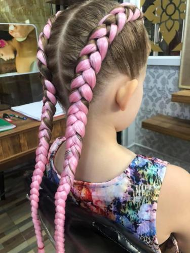 Beautiful Pink hair braids in patong