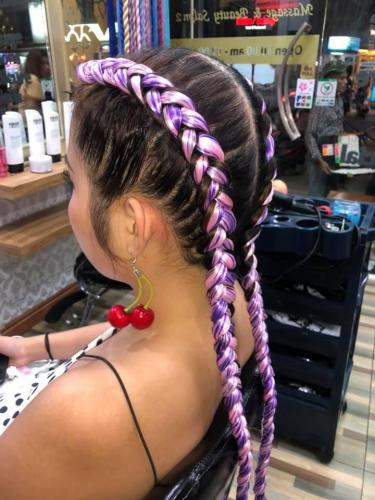 Beautiful hair braids at golden touch beauty salon 2 in patong