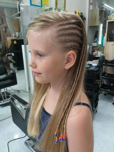 Blond hair braids for girls