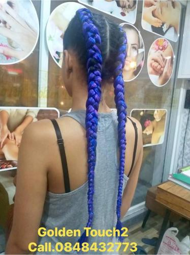 Blue Hair Braids in Patong at Golden Touch 2