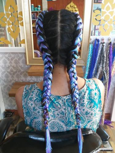 Gorgeous hair braids in Patong