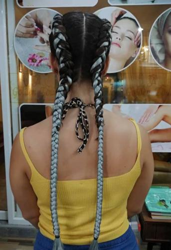 Great hair braids by golden touch beauty salon 2