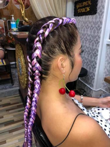 Lovely hair braids in patong