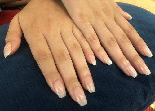 Natural Acrylic Nail extensions