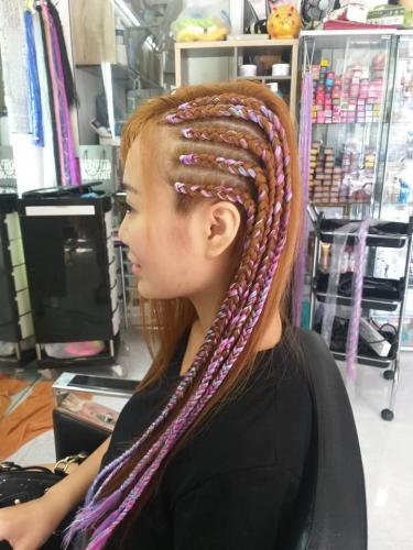 Original hair braid style in patong