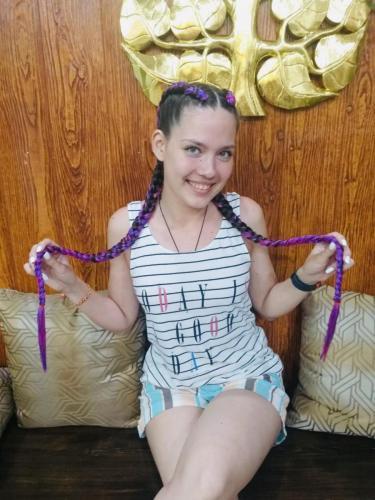 beautiful girl with hair braid